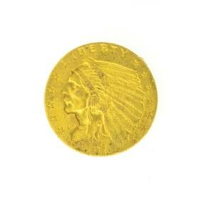 *1911 $2.50 U.S. Indian Head Gold Coin - Great