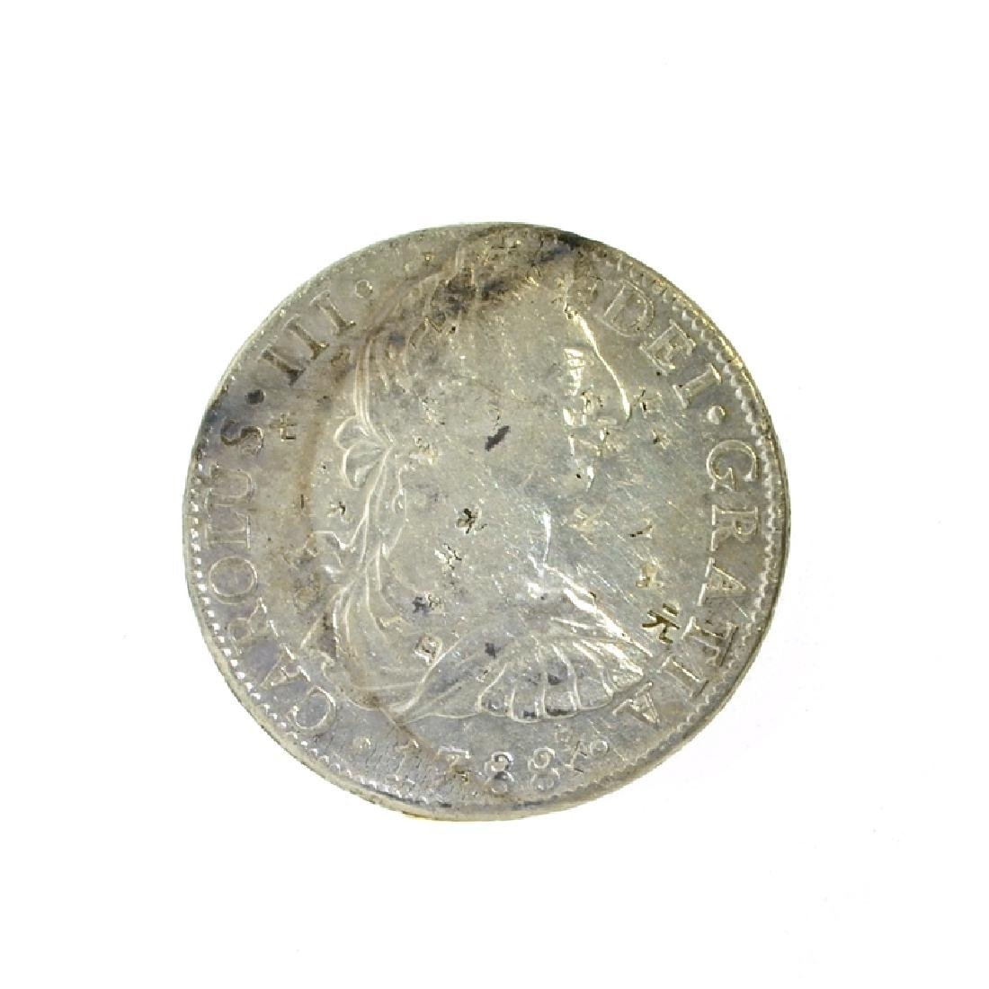 1788 Extremely Rare Eight Reales American First Silver