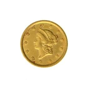 *1852 $1 U.S. Liberty Head Gold Coin - Great Investment