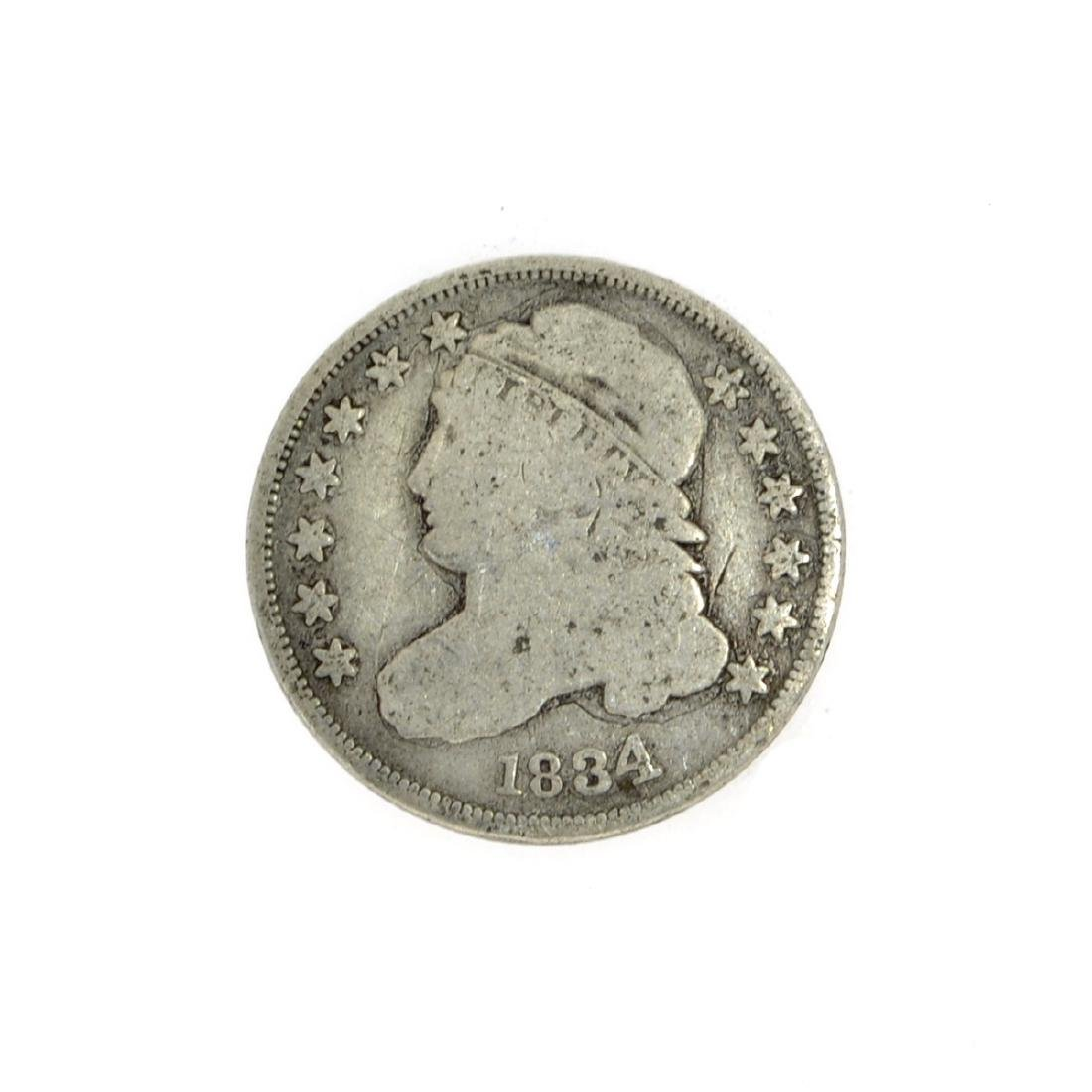 Rare 1834 Capped Bust Dime Coin