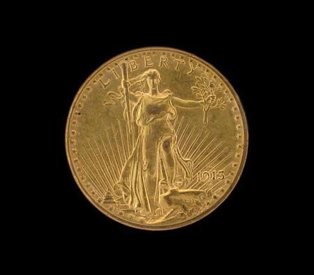 3009: 1913-D $20 US Gold Coin, COLLECTORS' ITEM!!