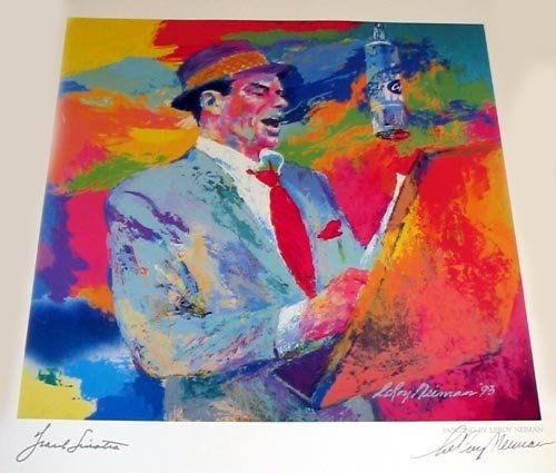 3191: NEIMAN Litho - Frank Sinatra - Duets Hand Signed,