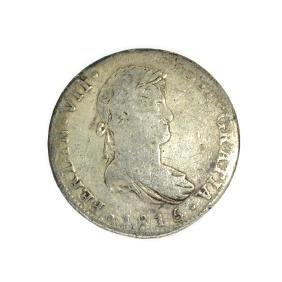 1815 Eigth Reales American First Silver Dollar Coin