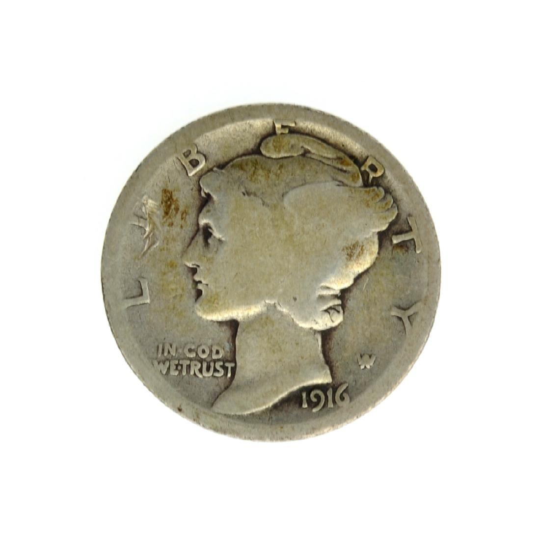 1916-D Merecury Dime Coin