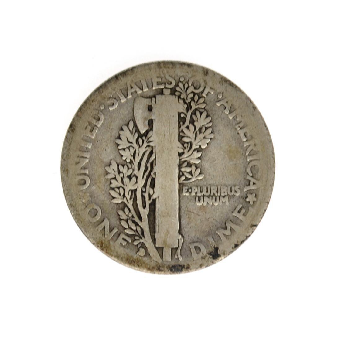 1916-D Merecury Dime Coin - 2