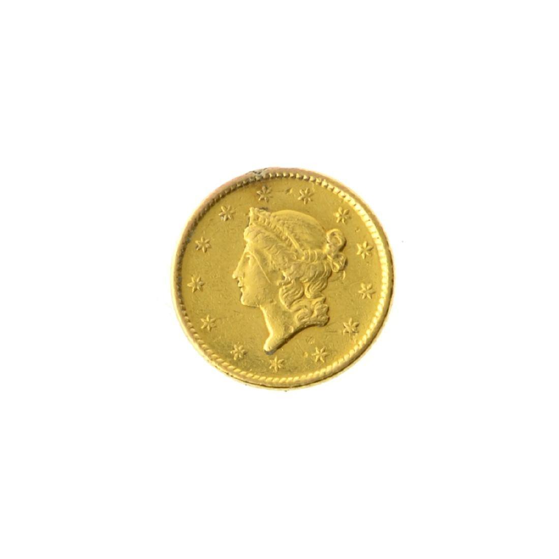 *1851 $1 U.S. Liberty Head Gold Coin (JG-MRT)