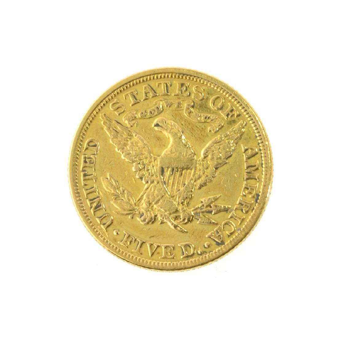 *1881 $5 U.S. Liberty Head Gold Coin (JG-JWJ) - 2