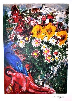 MARC CHAGALL (After) Les Soucis Print, 441 of 500