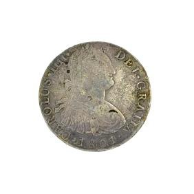 1801 Eigth Reales American First Silver Dollar Coin