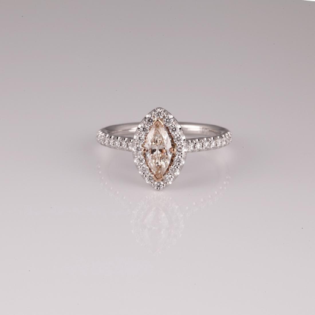APP: 8.3k *14 kt. Two Tone Gold, 1.14CT Diamond Ring
