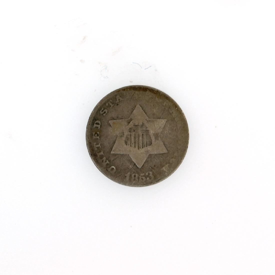 1853 3c silver Coin