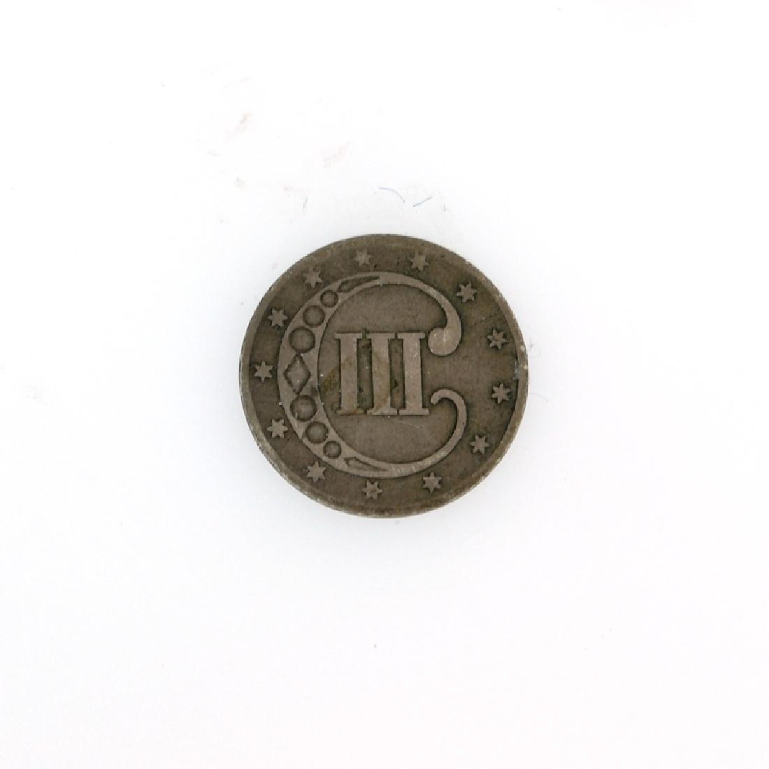 1853 3c silver Coin - 2