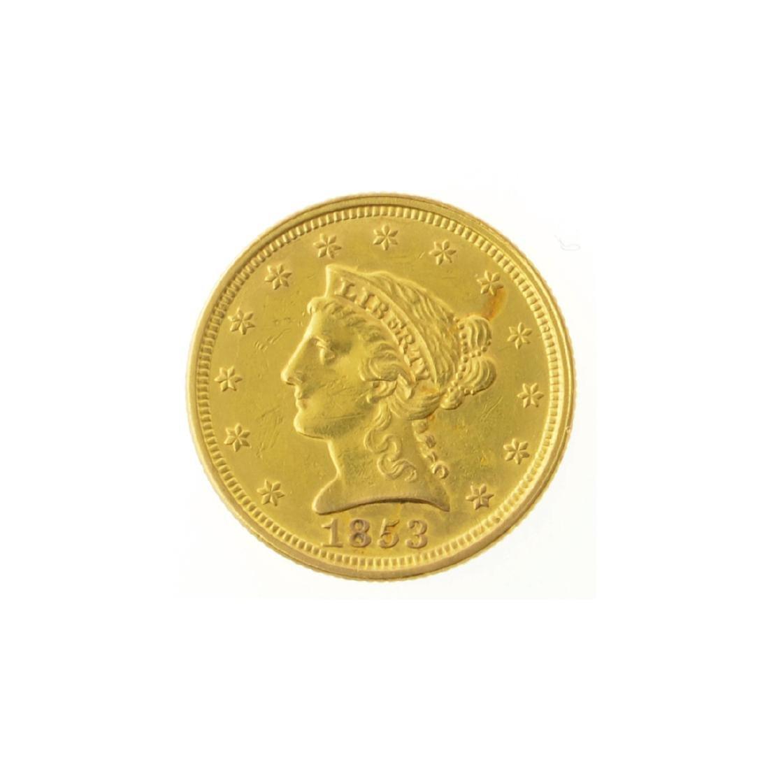 *1853 $2.50 U.S. Liberty Head Gold Coin (JG-JWJ)