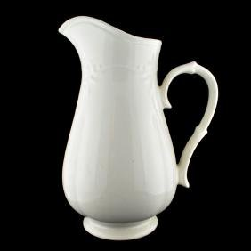 Cream Glass Pitcher