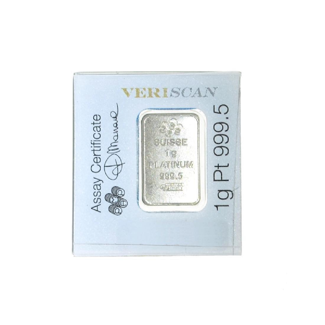 1 Gram PAMP Swiss Platinum Bar - 2