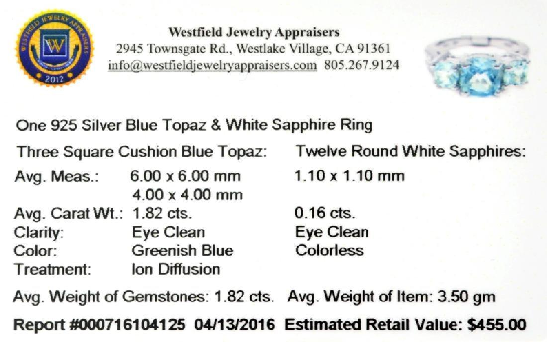 APP: 0.5k Fine Jewelry 1.82CT Topaz And White Sapphire - 2