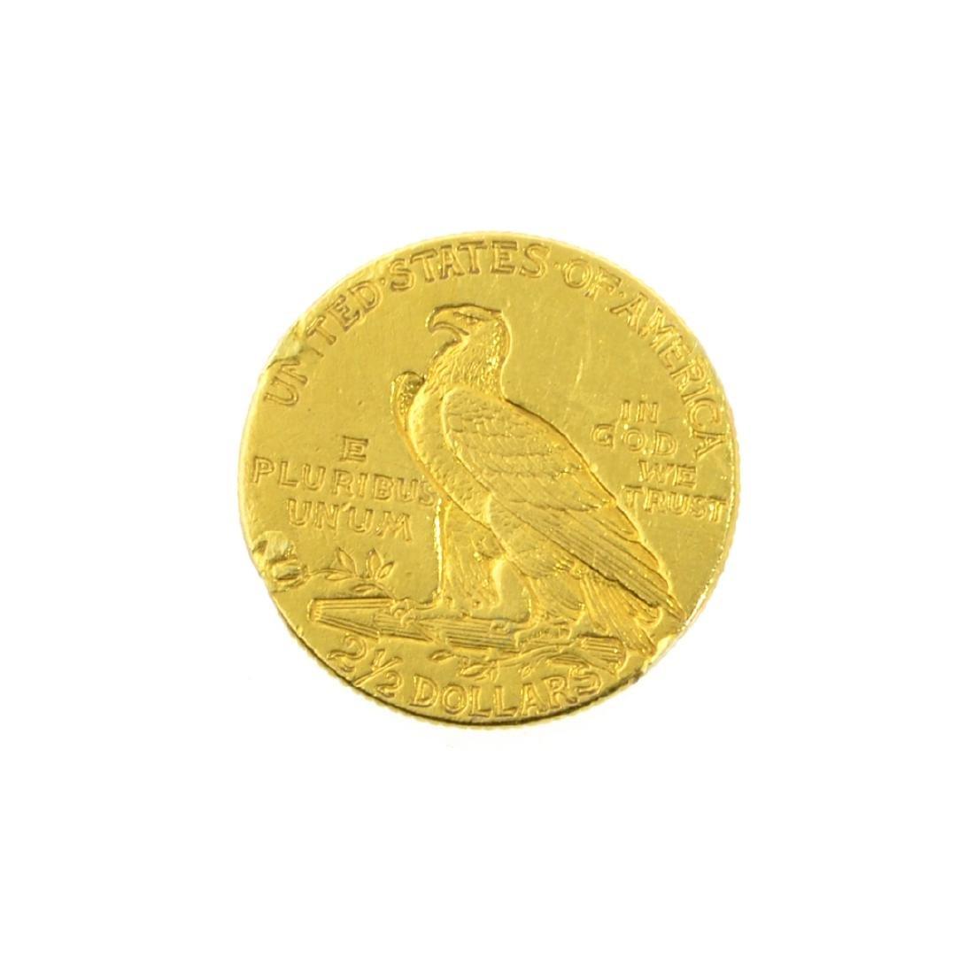 *1912 $2.50 U.S. Indian Head Gold Coin (JG-JWJ) - 2