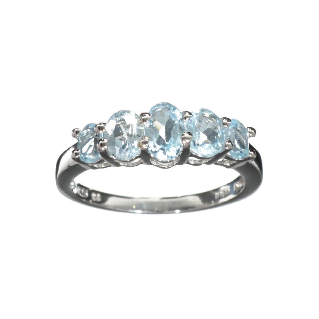 APP: 0.2k Fine Jewelry 1.91CT Oval Cut Blue Topaz And