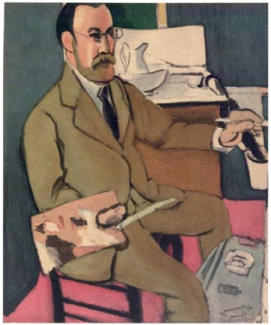 Henri Matisse ''''115 Self Portrait Nice 1918'''' 18 x
