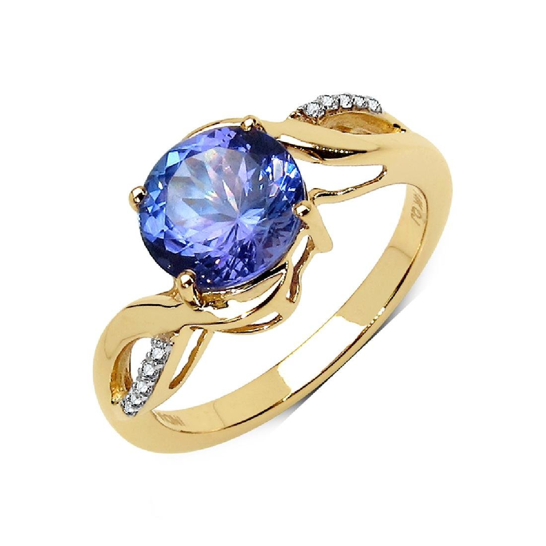 *Fine Jewelry 14 kt. Gold, 2.16CT Round Cut Tanzanite