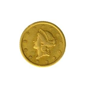 *1852-O $1 U.S. Liberty Head Gold Coin - Great