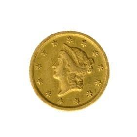 *1853-O $1 U.S. Liberty Head Gold Coin - Great