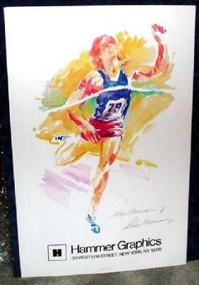 Hand Signed LeRoy Neiman: Finish Line