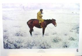 FREDERIC REMINGTON (After) The Herd Boy Print, 22.5'' x