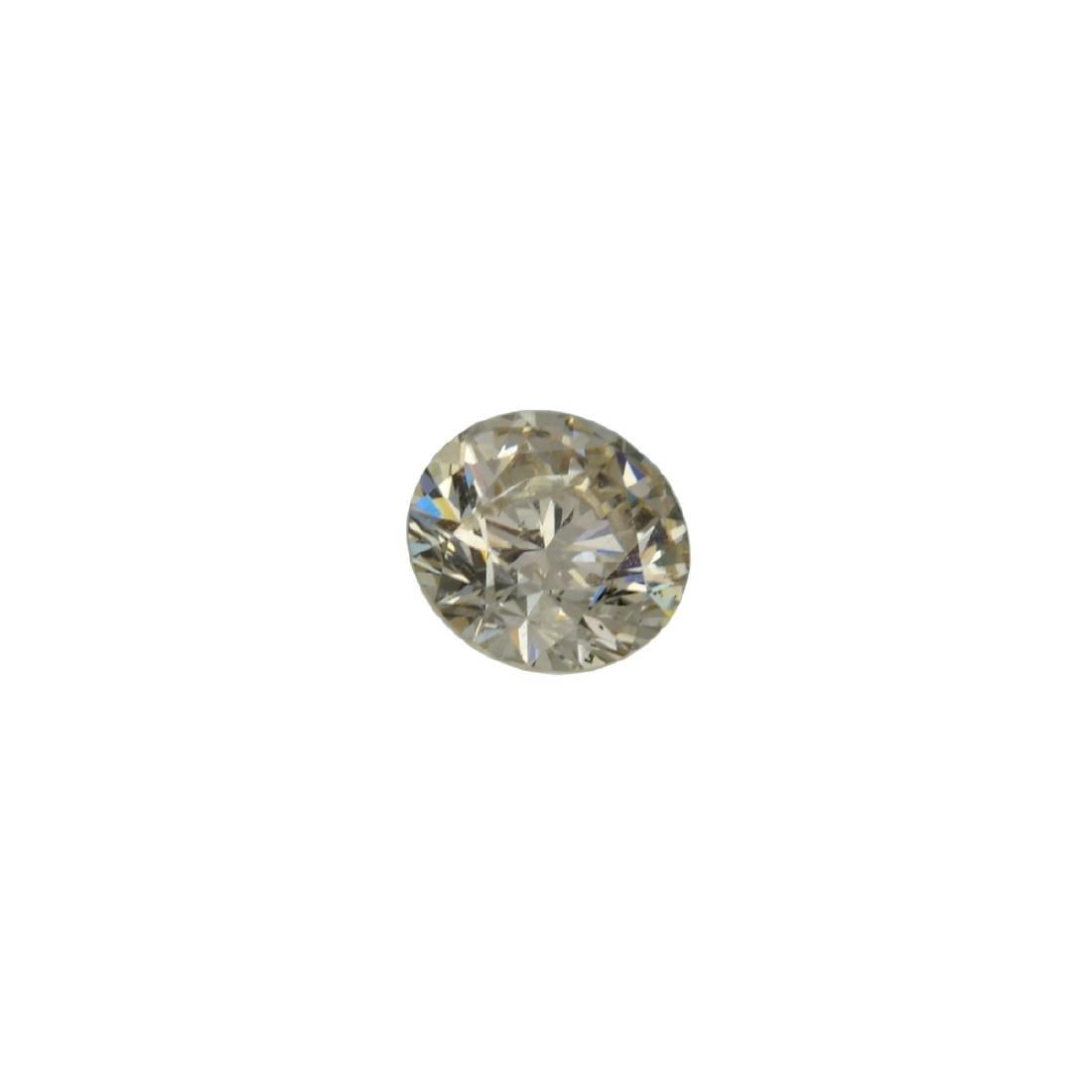 Fine Jewelry GIA Certified 0.59CT Brilliant Round Cut