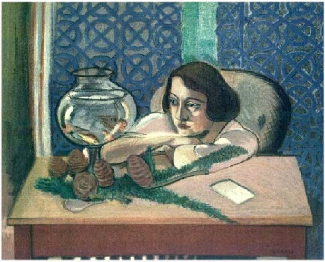 Henri Matisse ''''127 Mlle H.D. Woman Before An