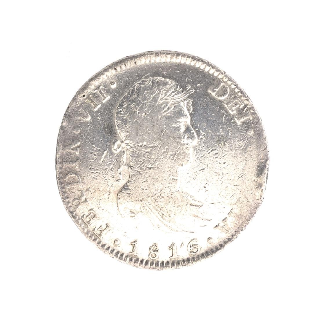 1816 Eight Reales American First Silver Dollar Coin