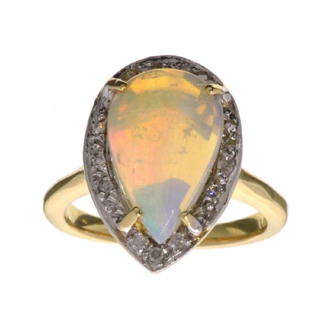 APP: 3.2k 14 kt. Yellow/White Gold, 1.97CT White Fire