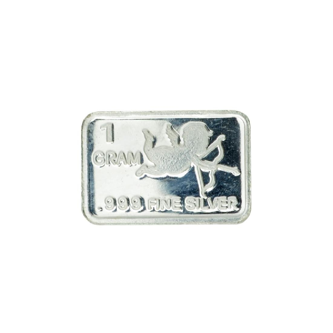 1 Gram Cupid Design .999 Fine Silver Bar