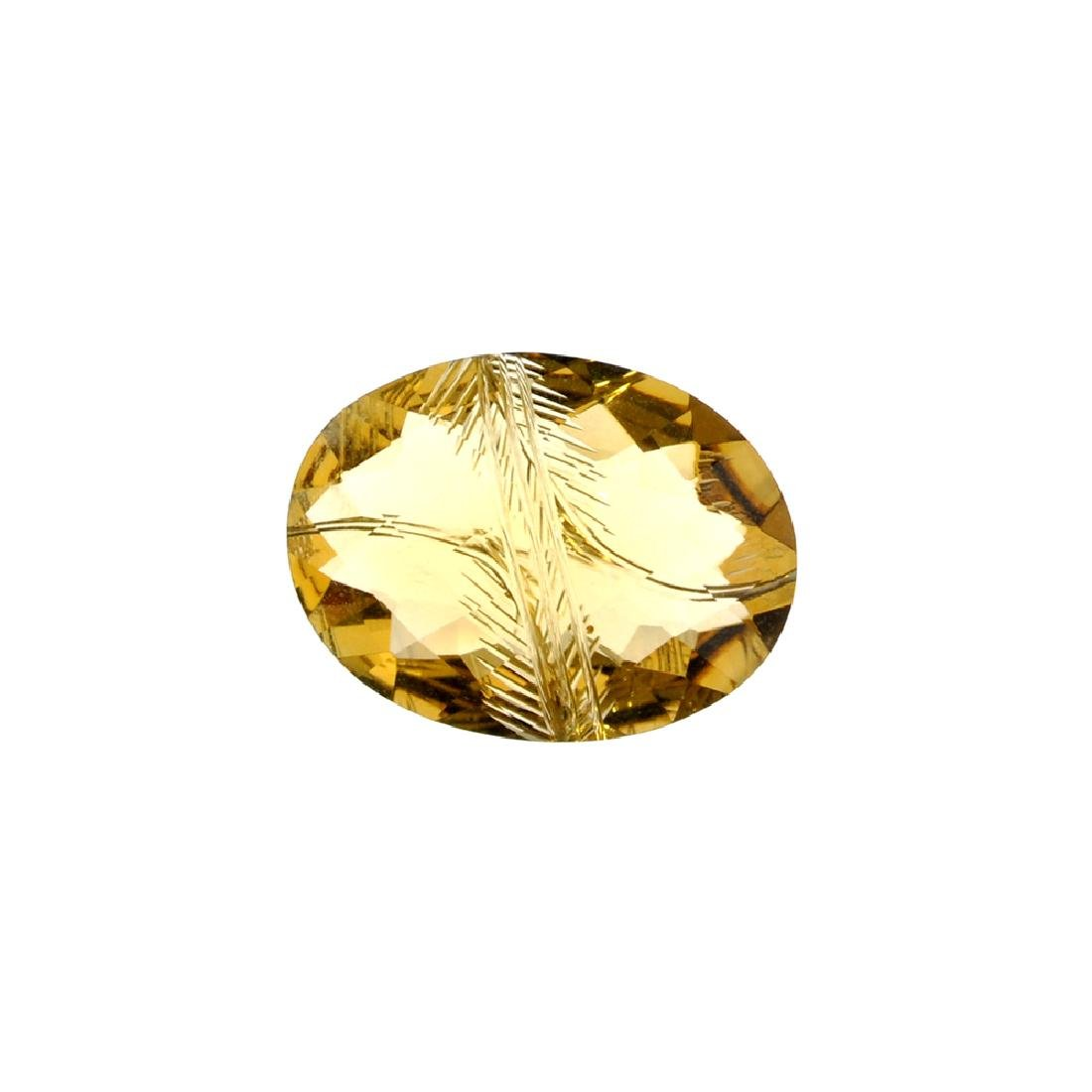 APP: 1.6k 20.85CT Carved Oval Cut Citrine Gemstone