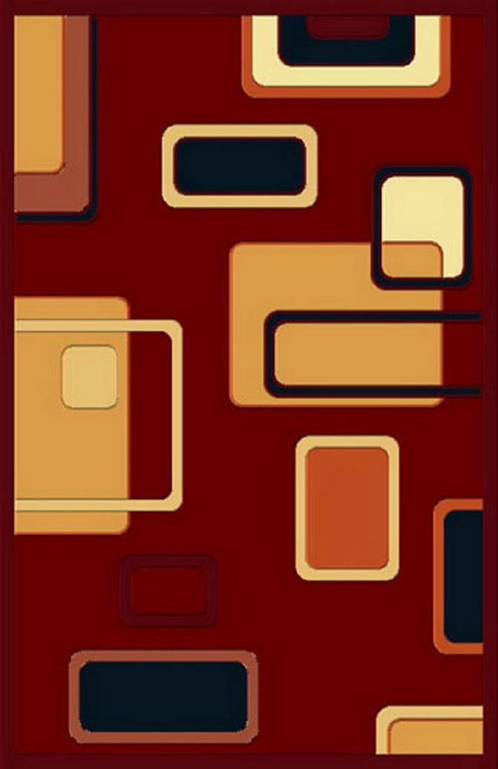 Gorgeous 8x10 Emirates Burgundy Rug Plush, High Quality