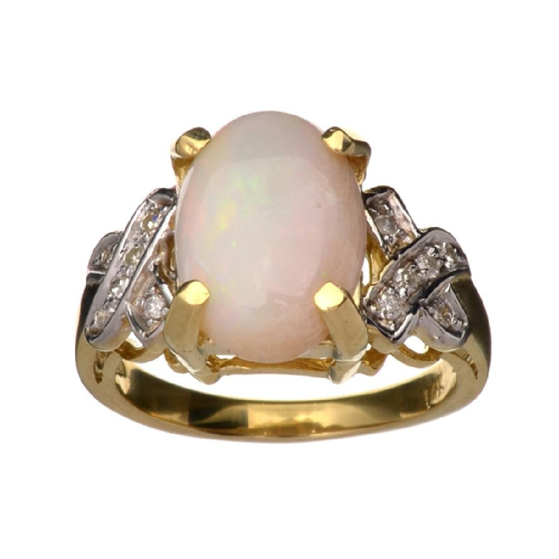 APP: 2.9k 14 kt. Yellow/White Gold, 2.02CT Opal And