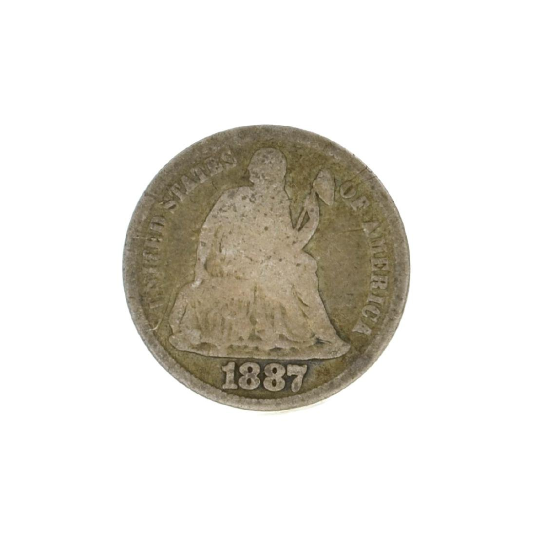 1887-S Liberty Seated Dime Coin