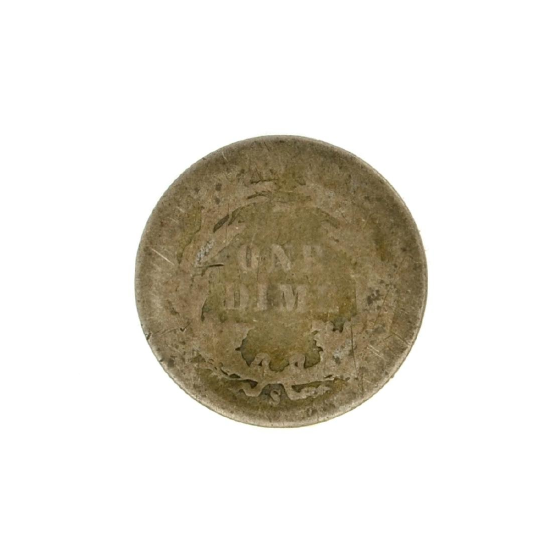 1887-S Liberty Seated Dime Coin - 2