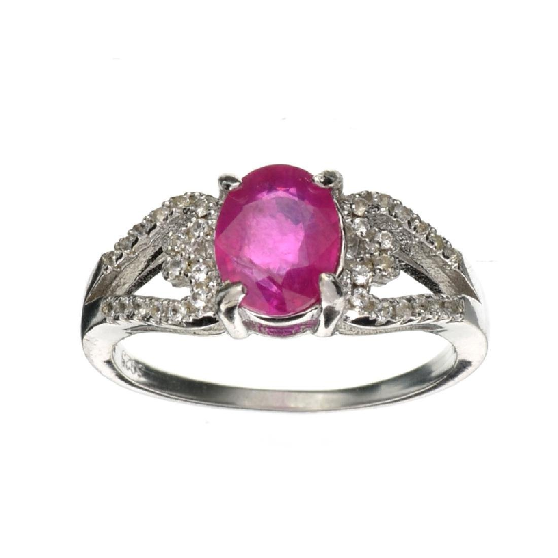 APP: 0.9k Fine Jewelry 1.70CT Ruby And Colorless Topaz