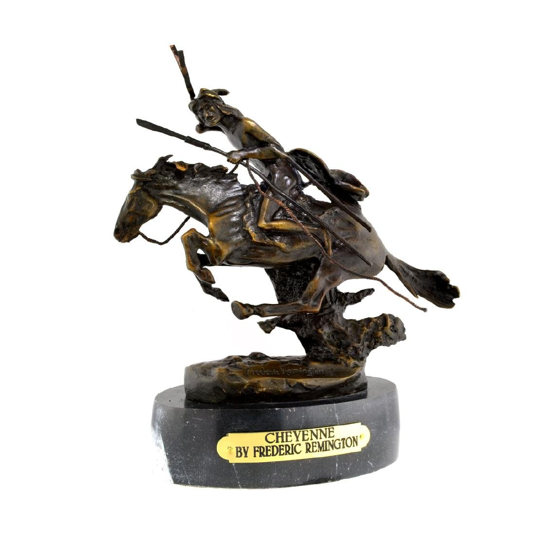 Cheyenne- By Frederic Remington- Bronze Reissue