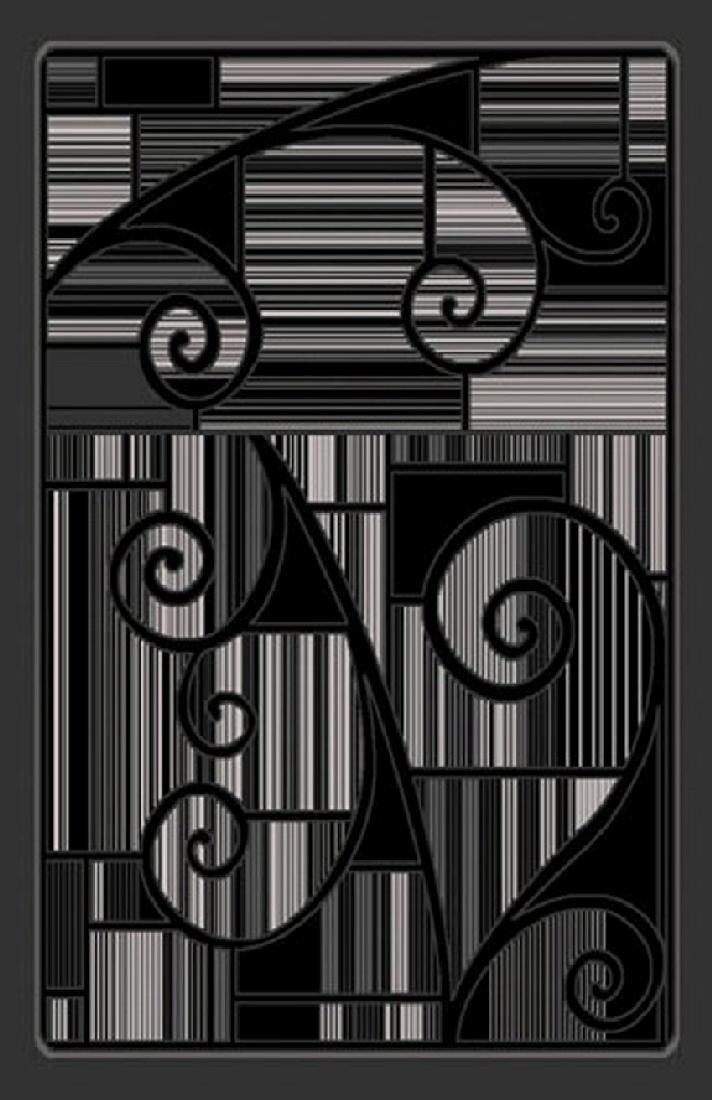 Gorgeous 4x6 Emirates Black & Grey 501 Rug  Plush, High