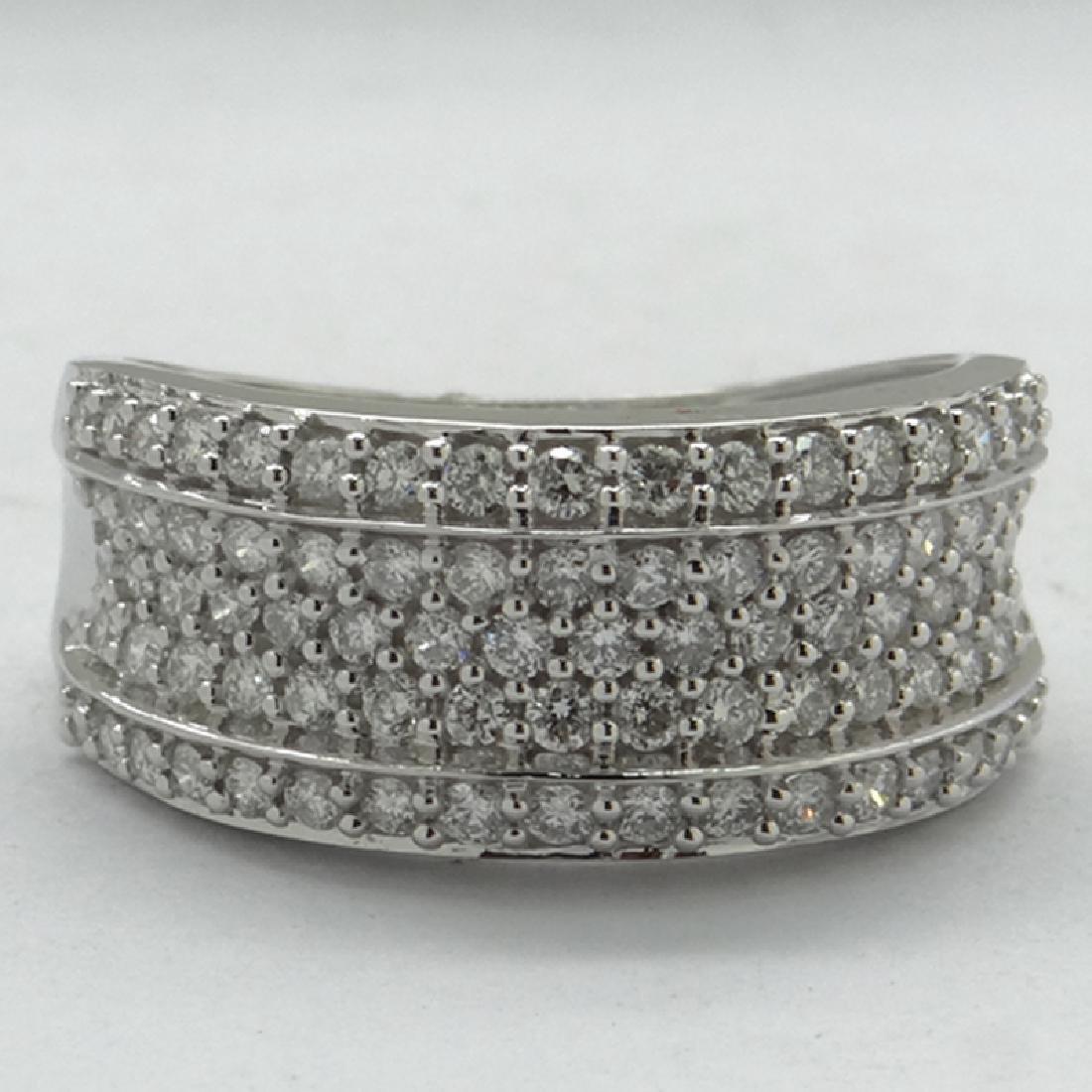 *Fine Jewelry 14 kt. White Gold, 0.87CT Round Cut