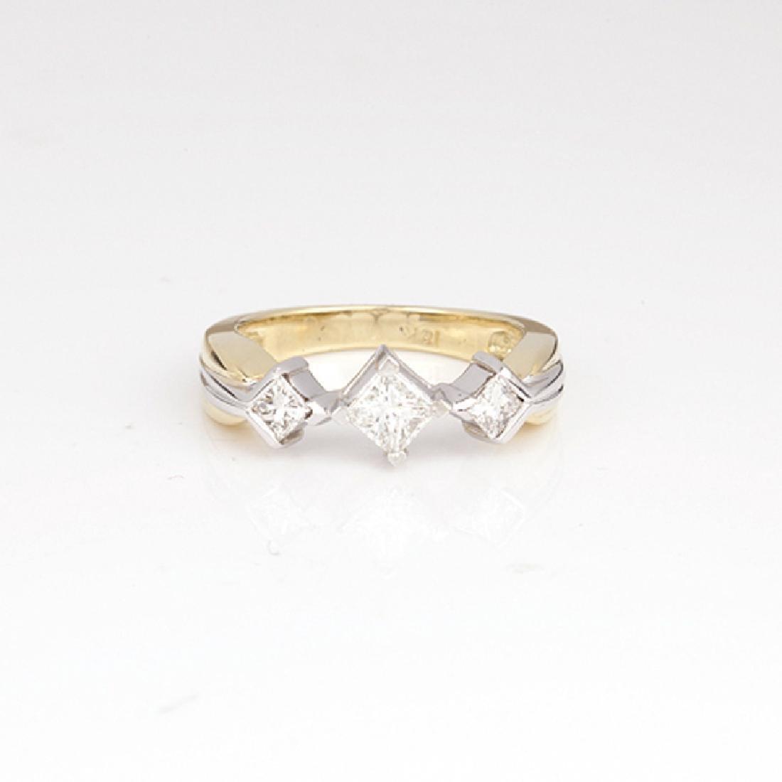 *Fine Jewelry 14 kt. Gold, New Custom Made 0.88CT