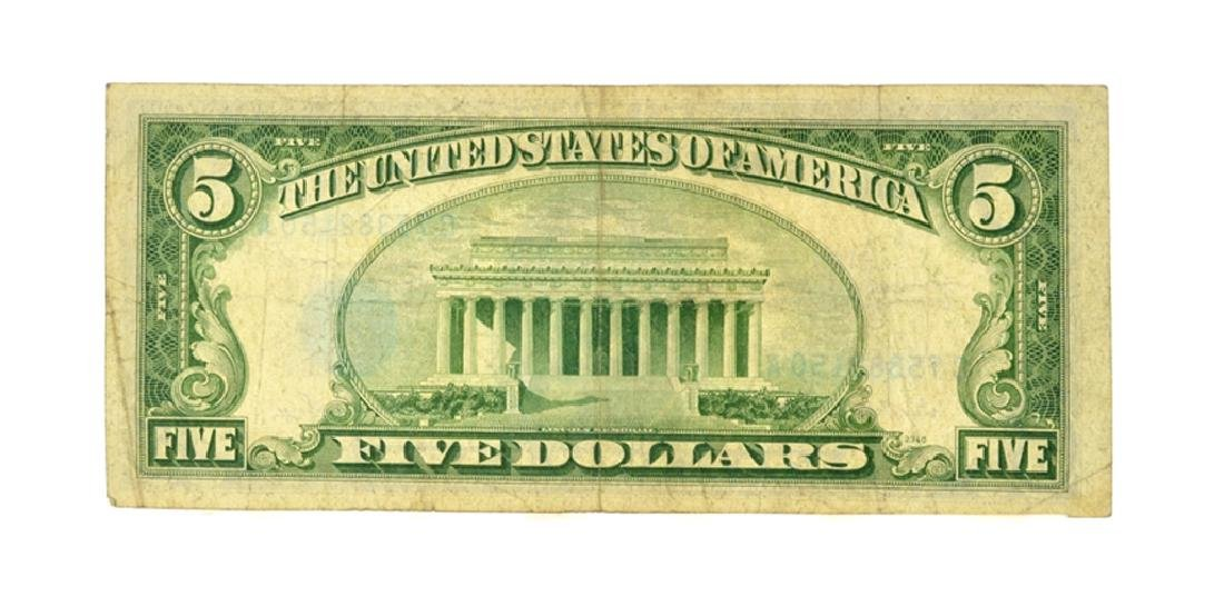 1953 $5 Blue Seal Silver Certificate - 2