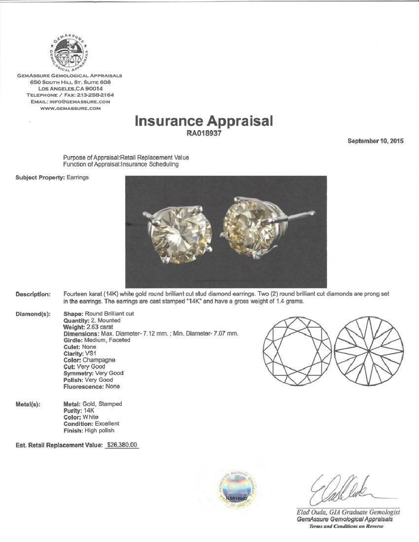 APP: 26.4k *Fine Jewelry 14KT White Gold, 2.63CT Round - 2
