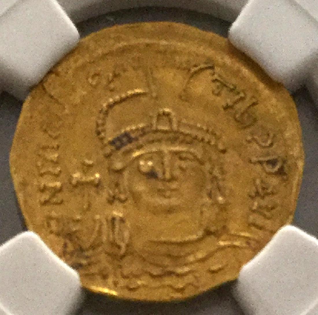 *Byzantine Empire Maur.Tiberius. AD 582-602 AV NGC CH - 2