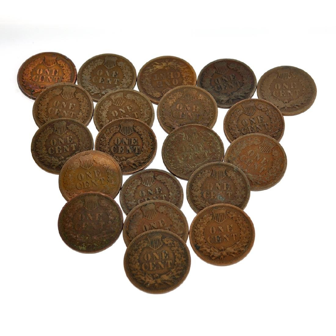 (20) US Indian Head Pennies-Various Years Coin - 2