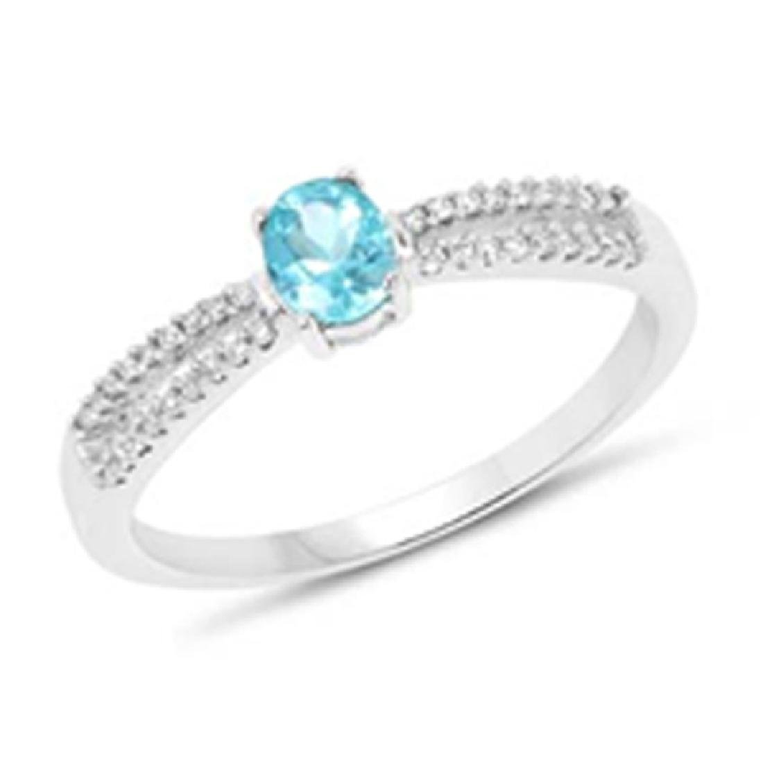 *Fine Jewelry 14KT White Gold, 2.13CT Apatite Oval And
