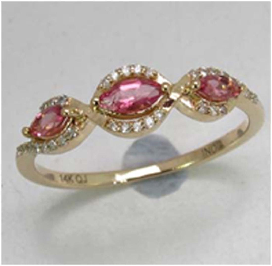 *Fine Jewelry 14K Gold, 1.83CT Pink Tourmaline Marquise