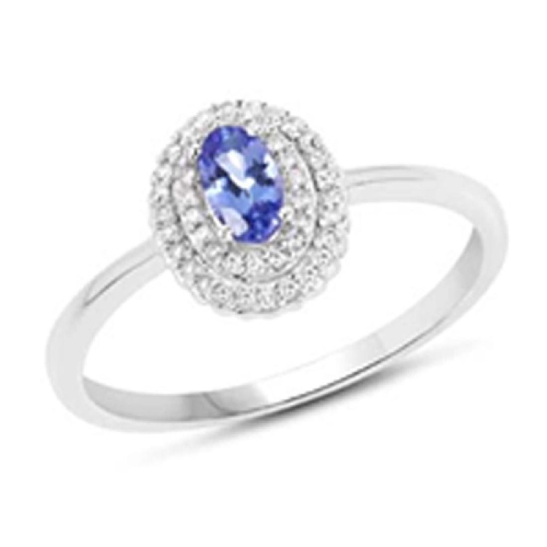 *Fine Jewelry 14KT White Gold, 2.08CT Tanzanite Oval